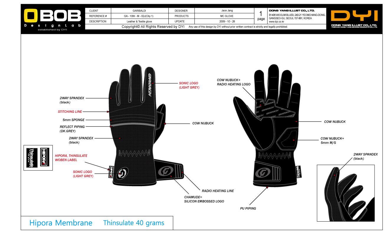 一款滑雪手套设计图