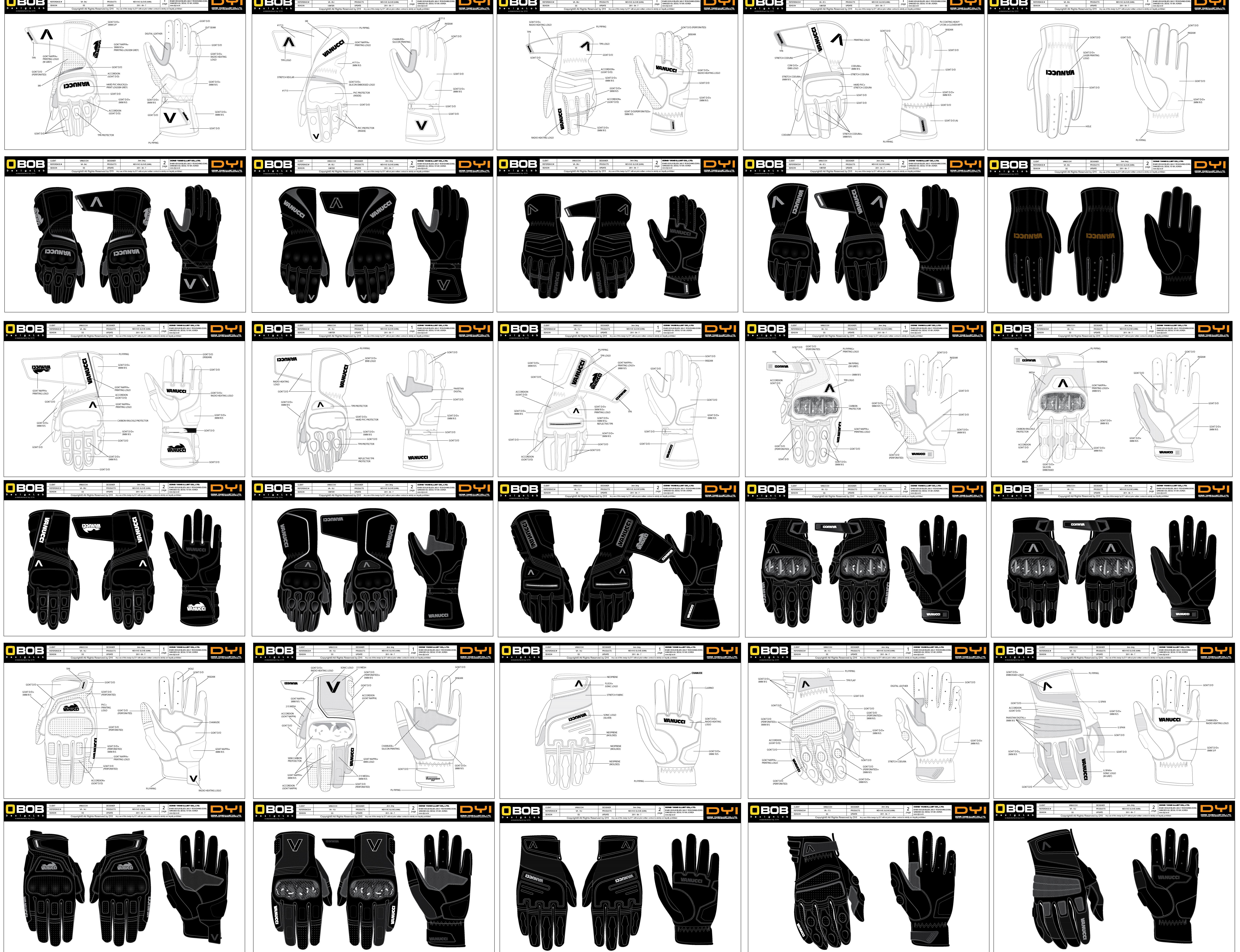 十五款摩托车手套设计图