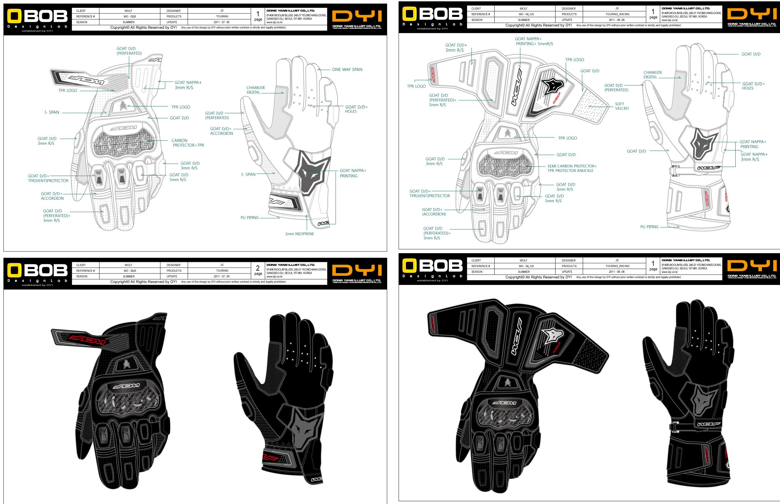 长短两款摩托车手套