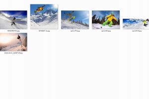 单板滑雪高清图
