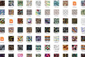 500个AI和CRD高清图片数码印花专用