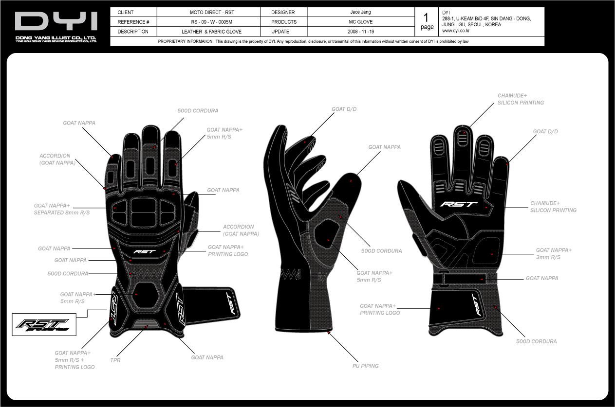 中长宽摩托车手套